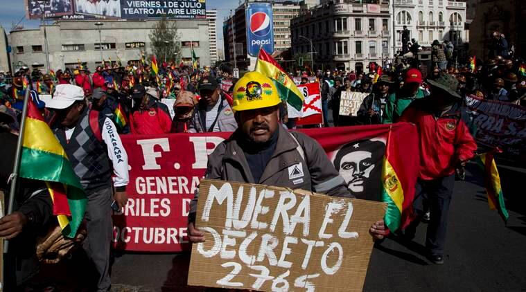 Bolivia, Bolivia protest, anti government bolivia, President Evo Morales, strike bolivia, strike against morales, evo morales, evo morales bolivia, march evo morales, anti government march, latest news, latest world news, latest america news, latest US news, latest world news