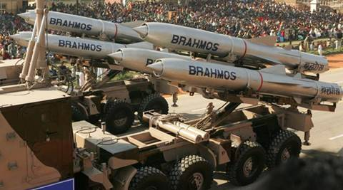 India's Brahmos supersonic cruise missiles, mounted on a truck, pass by during a full dress rehearsal for the Republic Day parade in New Delhi, India, January 23, 2006. REUTERS/Kamal Kishore/File Photo