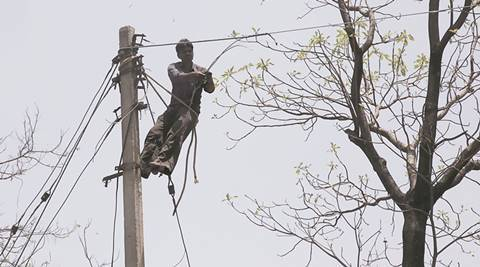 Chandigarh electricity line man: Without protective gear