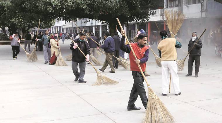 garbage collection, Chandigarh civic bodies, chandigarh municipal corporation, municipal corporation uniform, chandigarh newsline, chandigarh news, municipal corporation workers, Indian express news, India news