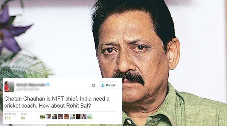 Chetan Chauhan former NIFT Chief is right man