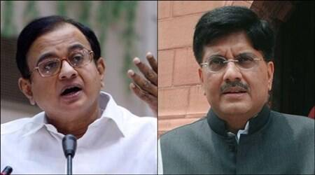 Rajya Sabha, P Chidambaram, Piyush Goyal, Rajya Sabha nomination, FInance Minister, Rajya Sabha from Maharashtra, Power minister, india news, latest news
