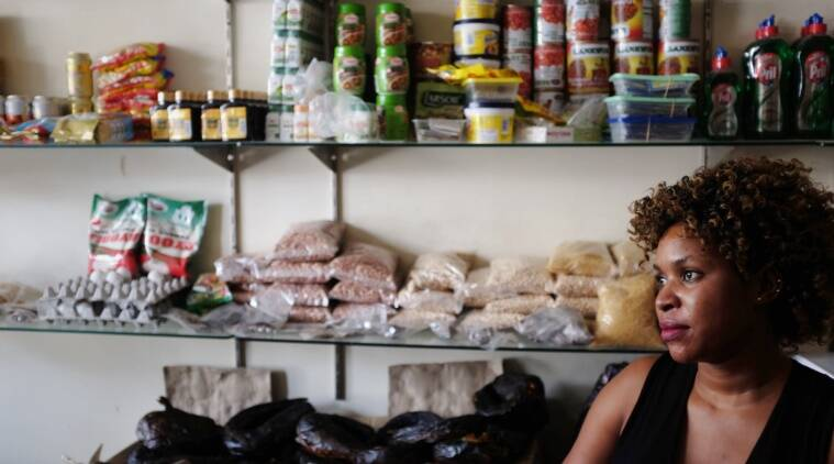 Blessy runs a store in Rajkhurd village of Chhatarpur where four African nationals were attacked on Thursday night. The attacks triggered a major diplomatic face-off between India and Africa. Express photo by Cheena Kapoor 280516