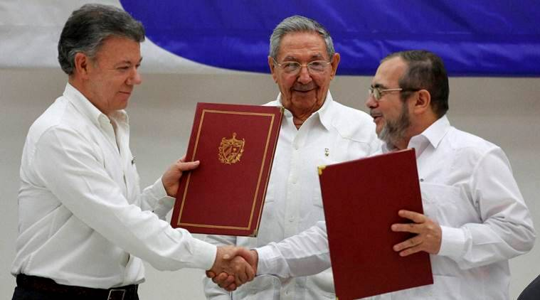 colombia, havana peace process. colombia peace process. raul castro, santos colombia, FARC, world news, latin america news
