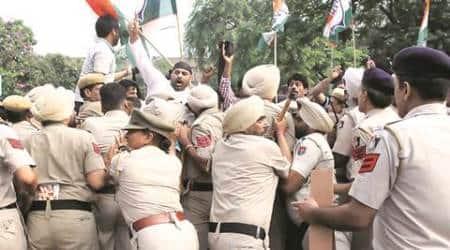 chandigarh, chandigarh anti riot vehicles, chandigarh police, chandigarh news, indian express news, india news