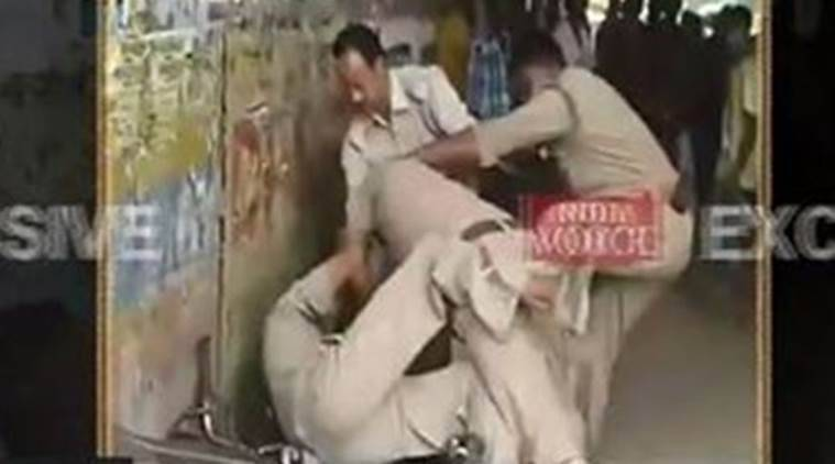 cops fight, up cop fight