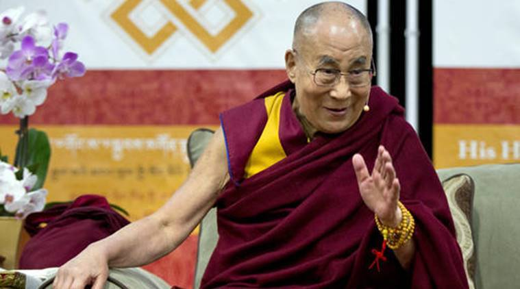 "Speaking earlier at Washington's U.S. Institute of Peace (USIP), the Dalai Lama said that by nature, women were more compassionate and if more world leaders were female, ""there may be less trouble, less violence."" (Source: AP)"