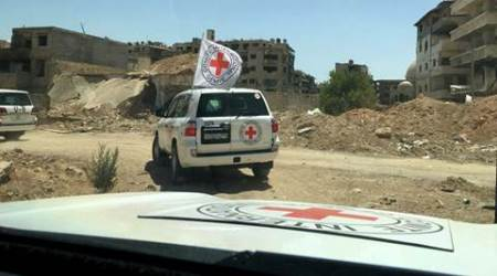 Syria, Syrian Arab Red Crescent, Daraya, SARC, food aid, Syria war, Syrian civil war, civil war in Syria, Syria siege, Bashar Al Assad, Syria news, world news, latest news