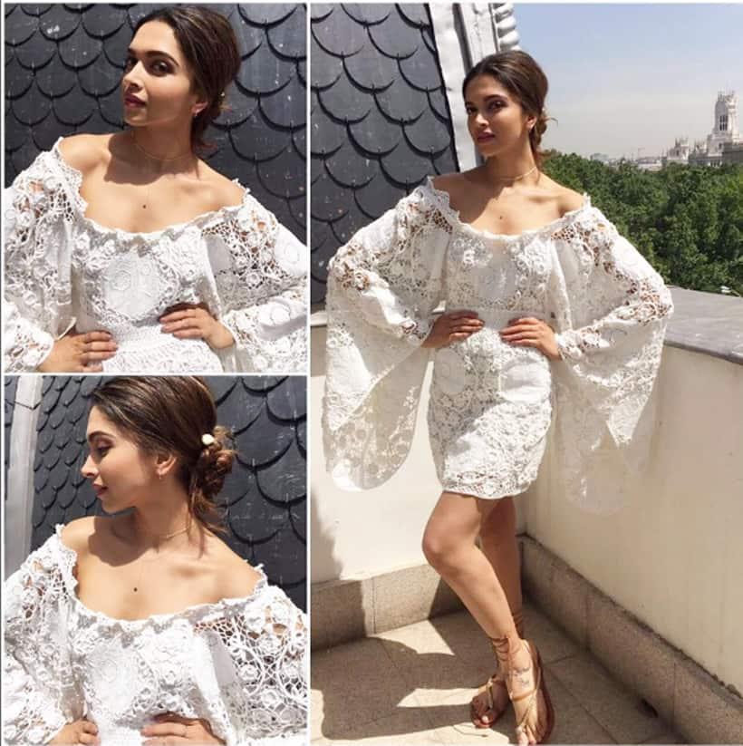 Image result for Deepika Padukone white jumpsuit