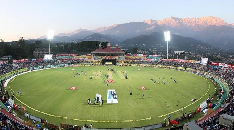 Image result for best view of dharamsala cricket stadium in india