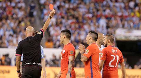 Live Football Score, Argentina vs Chile, Copa America Final: Argentina 0-0 Chile at half time; Marcelo Diaz, Marcos Rojo sent off