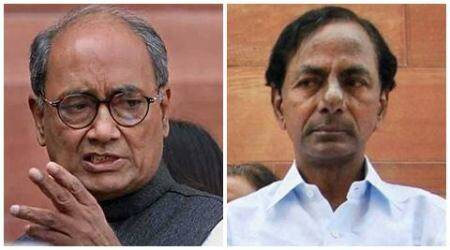 Shame on you KCR: Digvijaya tells Telangana CM on celebrations