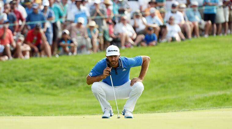 Dustin Johnson finished his second round at   under               Source  USA Today Sports  The Indian Express