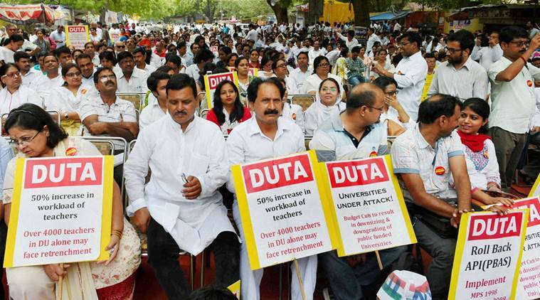 DUTA, DU, Delhi University, Delhi news, University of Delhi, UGC, Delhi education, DUTA strike, DUTA protest, Delhi news, education news, latest news, india news
