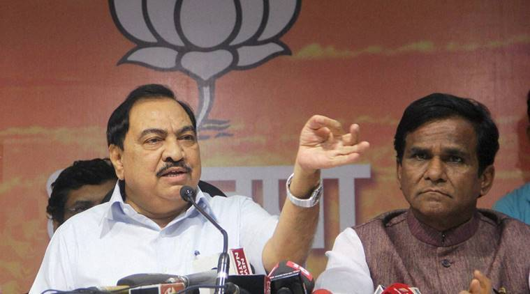 Eknath Khadse, BJP, Pune, BJP meet, BJP Pune meet, BJP meet in Pune, Eknath Khadse resignation, Pune news, BJP news, latest news, india news