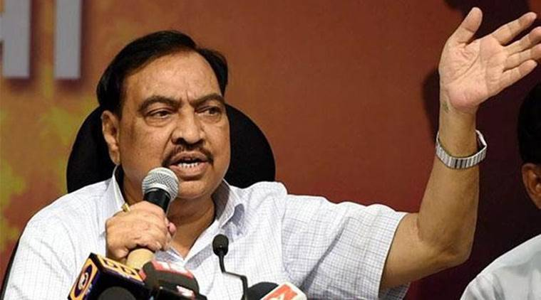 eknath khadse, eknath khadse maharashtra, eknath khadse devendra fadnavis, khadse graft accusations, india news, indian express news