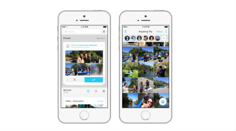 Facebook is pushing its users to download its private photo-sharing Moments app