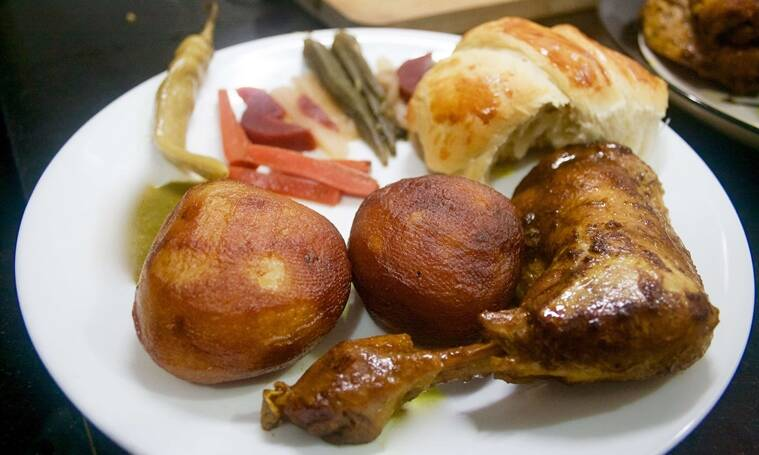 Feast on Aloo Makala with Roasted Chicken at Authenticook's Calcutta Jewish pop-up on Sunday.
