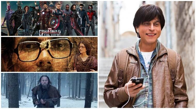 Bollywood films, Hollywood films, bollywood, hollywood, Fan, The jungle book, deadpool, fitoor, Captain America: Civil War, Wazir, Jai gangaajal, Azhar, X-Men: Apocalypse, Sarbjit, The Angry Birds Movie, Waiting, Veerappan, Phobia, The revenant, Suicide squad, Conjuring 2, Entertainment news
