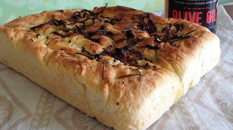 The focaccia has been baked using extra virgin olive oil. Use premium olive oil for best results. (Photo: Bijal Vachharajani)