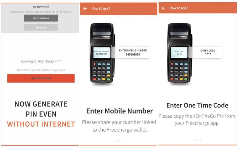 Freecharge introduces On The Go Pin to make cashless