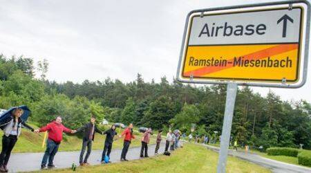 Germany: Thousands protest near US Air Force base against drone operations
