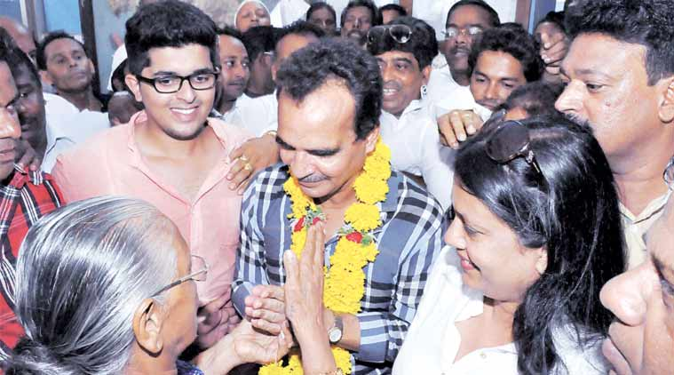 Goa MLA Antaniasso Monsaratte after being released on bail. File Photo/agencies.