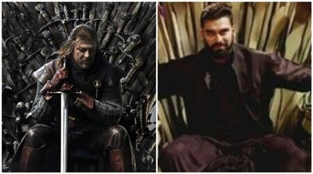 Nikitin Dheer's throne in TV show inspired from Game of Thrones?