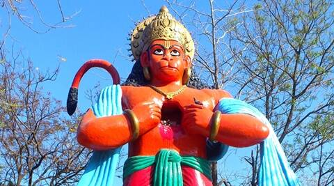 Hanuman idol destroyed, Hanuman idol destroyed in Indore, Hanuman idol destroyed at Palda, Khedapati Hanuman temple, odd news