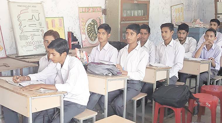 Laboratories double up as classrooms at Government Senior Secondary School, Pathiar in district Kangra, Himachal Pradesh. Photo by Khushboo Sandhu