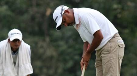 Rahil Gangjee during Golf Tournament at Chandigarh Golf Club on Friday, September 20 2013. Express photo by Jaipal Singh