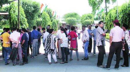 Home buyers protest against Jaypee Group over delay in possession of flats