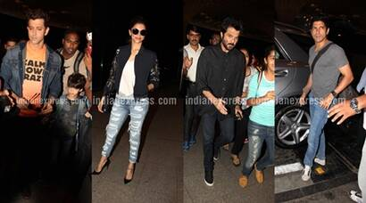 Shahid Kapoor, Bipasha Basu with Karan Singh Grover, Tiger Shroff leave for IIFA 2016