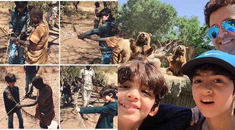 Image result for latest images of hritik roshan with his sons