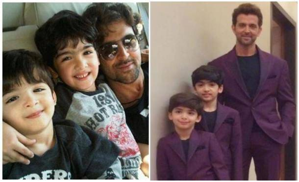 happy father's day, HRITHIK, HRITHIK sons, father's day, bollywood fathers, father's day wishes, father's day pics