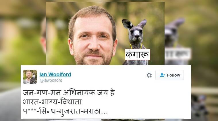 Ian Woolford is a Hindi professor at an Australian university/ Twitter