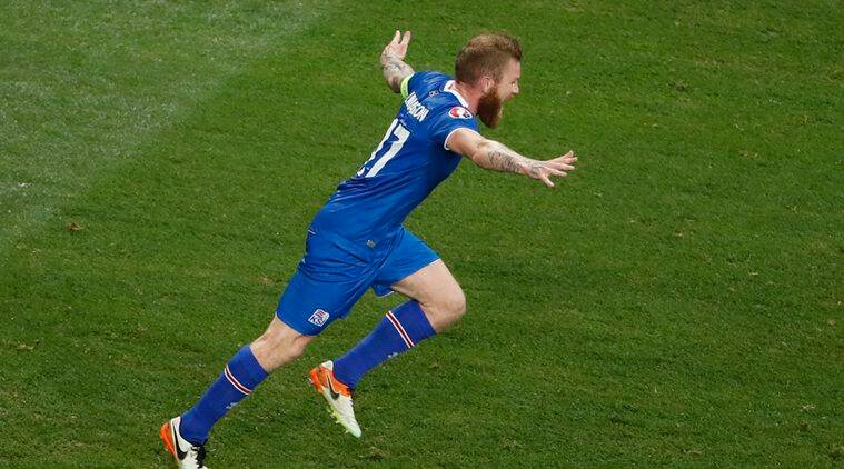 Iceland are lucky to have a specialist in the long throw midfielder Aron Gunnarsson. (Source: Reuters)
