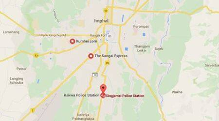 Seven injured as van runs over a group of protesters inImphal