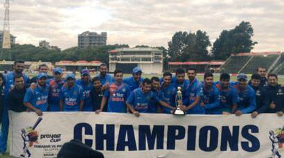 Kedar Jadhav, Barinder Sran lead India to T20 series win over Zimbabwe