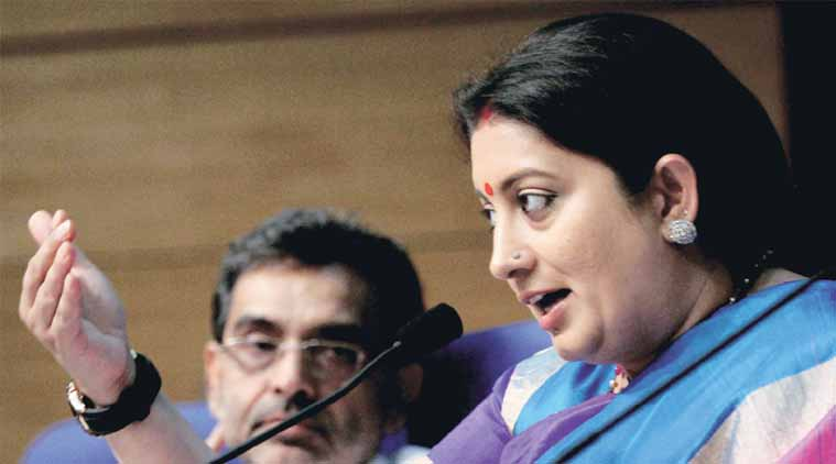 smriti irani, national education policy, nep, tsr subramaniam, hrd minister smriti irani, nep smirit irani, nep tsr subramaniam, education news, india news