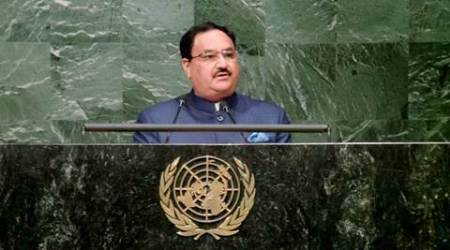 India HIV, HIV AIDS, J P Nadda, United Nations General Assembly, antiretroviral drugs, ARV, UNGA, India at UNGA, J P Nadda at UNGA, Union Health & Family Welfare Minister, Latest news, latest United nations news, latest India news, latest world news