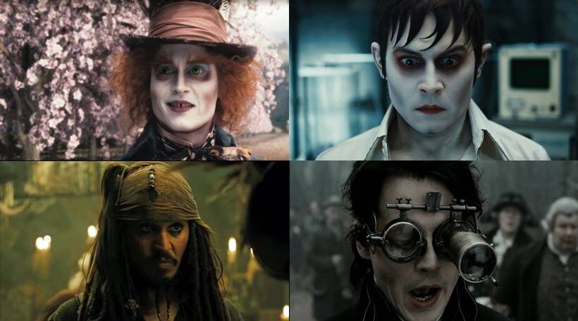 Depp, Johnny Depp movie looks, Johnny Depp makeup, Johnny Depp in prosthetics,