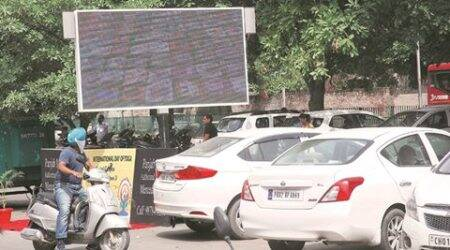 chandigarh, chandigarh news, chandigarh parking lot, sector 35 c paking lot, joint commissioner, indian express news