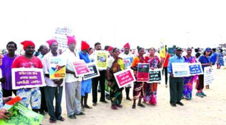 Juhu residents form human chain to protest 'development' on beach