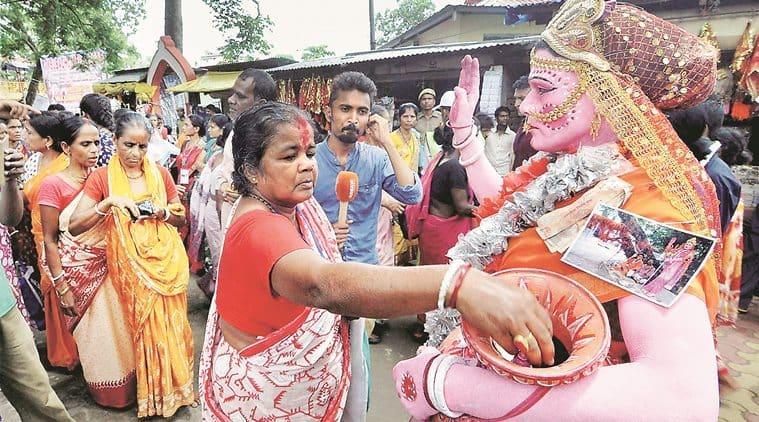 Devotees at Kamakhya temple in Guwahati Wednesday. PTI photo