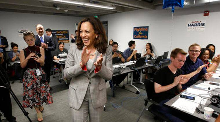 Donald Trump Unfit For Holding Public Office Says California Attorney General Kamala Harris World News The Indian Express