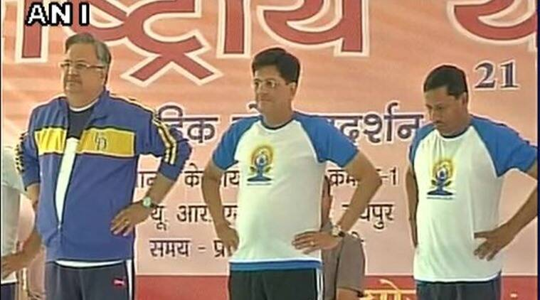 Ram Shankar Katheria, Ram Shankar Katheria FB page, Raman Singh as Jharkhand CM, Union Minister of State for HRD, Kendriya Rajya Mantri Piyush Goel, Yoga Day celebreations, yoga day celebration Fau pas, India News, Latest news