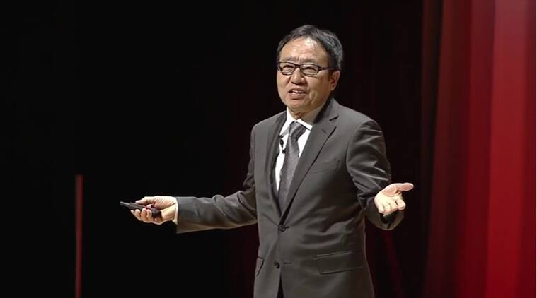 Ken Miyauchi speaking at conference. (Source: YouTube screen-grab/Oracle)
