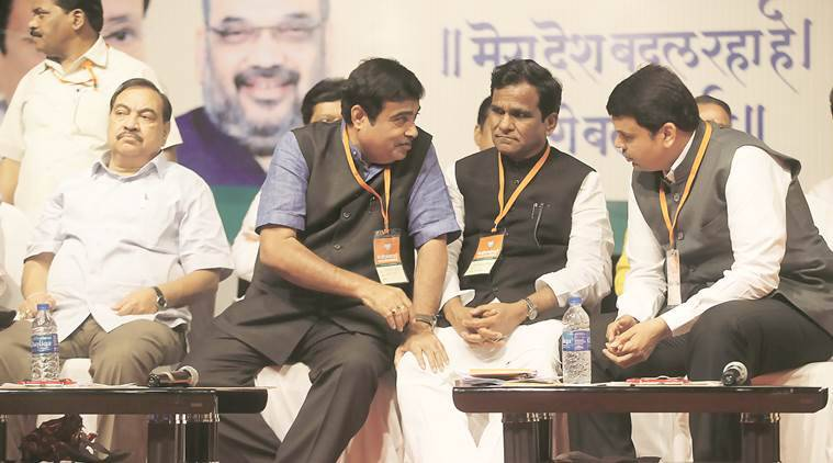 MIDC, IGC, Nitin Gadkari, Eknath Khadse, Khadse, Raosaheb Danve, Maharashtra Industrial Development Corporation, Devendra Fadnavis, state BJP chief Raosaheb Danve, Chief Minister Devendra Fadnavis, BJP Maharashtra state executive meet, BJP state executive meet, Former revenue minister Eknath Khadse