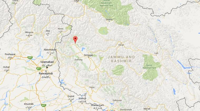 Kupwara district in J&K. (Source: Google Maps)